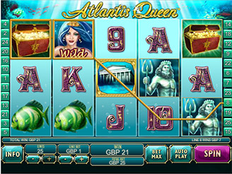 Play Atlantis Queen Slots Online at Casino.com South Africa