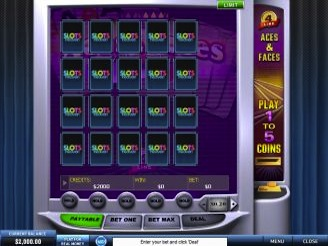 Play 4 Line Aces & Faces Videopoker Online at Casino.com Australia