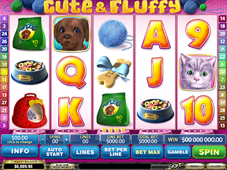 Play Cute & Fluffy Slots Online at Casino.com NZ