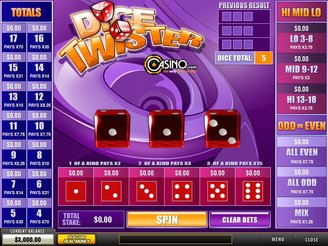 Play Dice Twister Arcade Game Online
