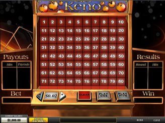 Play Keno Arcade Game Online