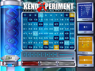 Play Keno Xperiment Arcade Game Online at Casino.com NZ