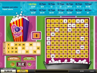 Play Pop Bingo Arcade Game Online