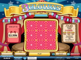 Play 3 Clowns Scratch Online at Casino.com NZ